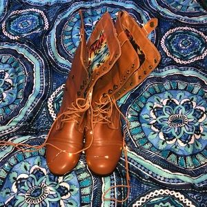 Rue 21 Brown 3 Level Boots